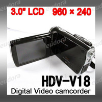 Wholesale High definition HDV V18 inch TFT LCD Digital Video camcorder with Degree Rotation from eudora