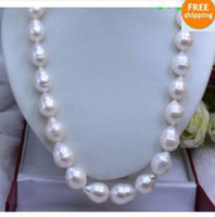 Wholesale Genuine big mm akoya white BAROQUE Pearl Necklace quot K