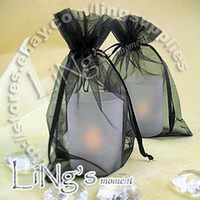 Wholesale Black cm Sheer Organza bag Wedding Favor Gift Bag Pouch Hot Sell
