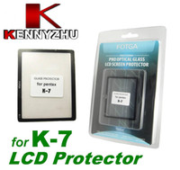 Wholesale Pro Optical Glass LCD Screen Protector For Pentax K K7 Made Of layer Protector Film