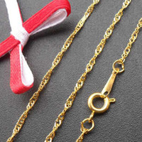 Wholesale DIY jewelry accessories k gold plating net neckalce chains NS10218 x1 mm