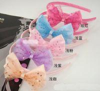 Wholesale Hair band Hairband childrens hair Accessories headband Korean headbands flower bow A