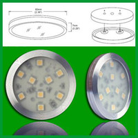 Wholesale 3PCS Kit Ultra Bright LM White W SMD5050 LED Under Cabinet Light Puck Light PC V A W DC Power Supply
