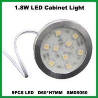 Wholesale 3PCS W Warm White Under LED Cabinet Light LED Puck Light SMD5050 LM PC W V AC to V DC Trasnformer DHL