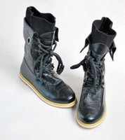 Wholesale New Women s Fashion High Quality PU Leather Lace Up Ankle Boots Shoes Rubber Sole Retail amp
