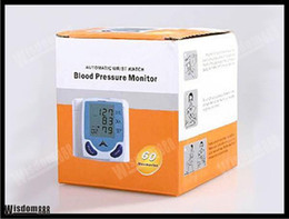 Wholesale Fully Automatic Digital Wrist Blood Pressure Monitor Heart Beat Meter With LCD Display hongkong post freeshipping