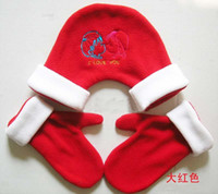 Wholesale 2011 new arrival polar fleece lovers lovers in hand gloves valentine s Christmas present gifts