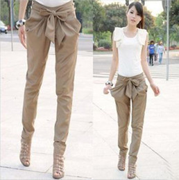 Wholesale Butterfly Knot Harem Pants Hot Fashion Korea Version Leisure Joker Trousers Black Khaki Girl Love