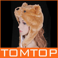 Wholesale WINTER HAT LOVELY bear PLUSH ANIMAL cap PARTY CARTOON hats H2736C