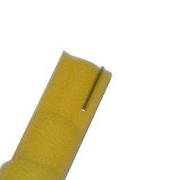 Wholesale Brand SMT LED T5 Mini Wedge Tail Side Car Bulb Yellow SMD DC V New best price