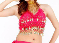New Golden Coins Belly Dance Bra Top Belly Dance Gold Coins ...
