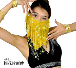 Wholesale New Belly Dance Handmade Veil Sequins voile Wrap colours choose Stage Wear Belly Dance Veil Belly Dance Accessory