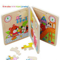 Wholesale Bear of a day Wood puzzle Intellectual puzzle loaded Children s toys kid toy gift