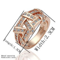 South American Unisex Party best Quality Noble fashion 18K GP k gold Plated Beautiful charm CZ Austrian crystal Luxury men's ring jewelry Christmas gifts