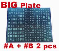 Wholesale Large Nail Art Stamping Stamp Image Plate Stamping Nail Art Image Plates