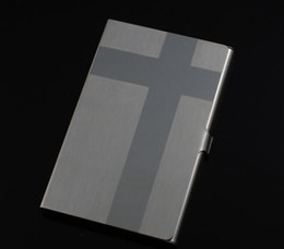 stainless steel Cross Business Card Case business card holders Technology gift 80 pcs  lot