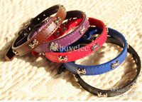 Wholesale 10PCS Dog Pets Leather Collar Pet Necklace Safe Leather Collar Pet Training Belt