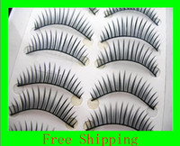 Christmas band eyelashes - 100 Good quality boxes Paris Freeshipping invisible band dark thick eyelashes