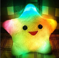 Wholesale Flash Pillow Lucky stars glow pillow LED light emitting pillow Christmas gift Valentine s Day gifts