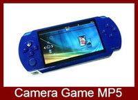 Wholesale 4 Inch GB Handheld Game Player Portable Game Console MP5 Player Video Camera Ebook Recorder Function DHL EMS