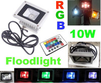 Wholesale 10W RGB LED Flood Light Waterproof landscape lighting Floodlight Remote Controller