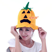 Wholesale Pieces Halloween Spirit Festival Decorate Pumpkin Hat