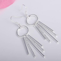 Wholesale Retail lowest price Christmas gift silver Earrings E027