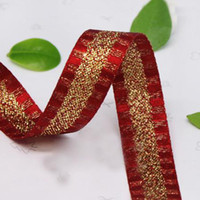 Wholesale 13mm Amazing Ribbon Beautiful New French Wired Fabric Ribbon Stripes Christmas Wreath Holiday Bow
