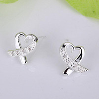 Wholesale Retail lowest price Christmas gift silver Earrings E053