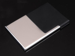 business card holder card case stainless steel name card case promotion gifts 70 pcs  lot