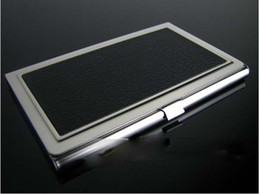 business card holder card case stainless steel name card case office gift with gift box 70 pcs  lot