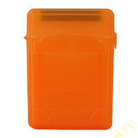 Wholesale New PVC Plastic Dual quot Hard Disk Case Orange