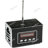 Wholesale 10pcs Portable LCD Screen Mini Stereo Speaker with FM Radio USB Jack TF Slot