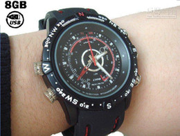 Wholesale Watch Camera spy watches Analog style watch with GB USB Flash Memory