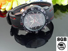Wholesale 4 Analog style watch Camera spy watches with GB USB Flash Memory