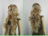 long blonde curly wig - Beautiful long blonde mix women s human made hair wigs amp Wigs Extensions