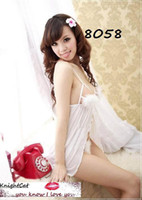 Wholesale Sexy Lingerie Underwear Cosplay Patry Thongs Dress G String Panty Bras Bundle Pajamas White