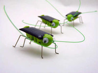 Wholesale Solar Locusts Cricket Grasshopper green toys Children s toys Ked gift