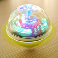 Wholesale Brand New Boxet LED Spin Top Light Up Gyro scope Toys Colorful Light Top Flash Spinning Whipping Top