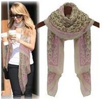 Wholesale Hot Fashion Korea Version Autumn Winter Leopard Female Scarves Multifunction Wraps Blue Pink zzwpp