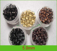 Wholesale Mix color mm silicone micro rings Feather micro rings beads from triumphal arch