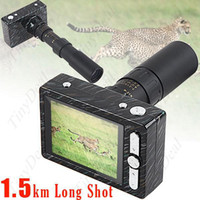 Wholesale 12M Pixel KM Long Shot Telescope Zoom Digital Camera Digital Video with AV Cable Max GB