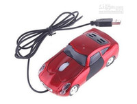 Wholesale PC Laptop dpi D Optical USB Car Shape Mouse Red