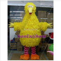 Wholesale Adult Size Sesame Street Big Bird Mascot costume High Quality Fancy Dress Party Outfit