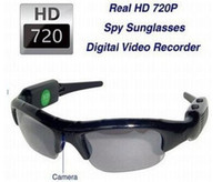 Wholesale MINI DVR HD720P Spy Camera Sunglasses Digital Video Support TF Card Recorder pc