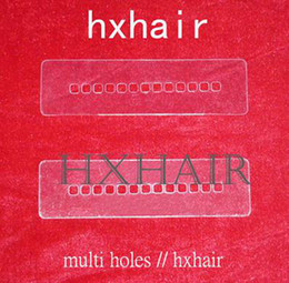 100pcs Multi Holes Template   Heat Shield Spacer Separator   Hair Extension Tools   Samples