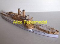 Wholesale Alice papermodel Long CM USS Maine Ironclads Battleship battlecruiser warship army models