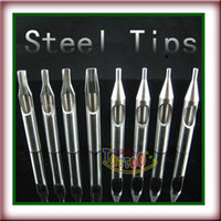 Wholesale 8 Tattoo Stainless Steel Nozzle Tip Mixed Size Tattoo Supply