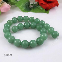 Wholesale Elegant jewelry AA size MM Length inch Green Jade bead Christmas gift jewelry A2009