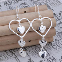 Wholesale Retail lowest price Christmas gift silver Earrings E150